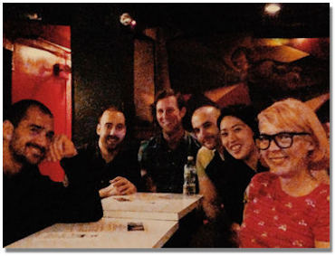 Renato Diz and Paolo Lattanzi with students at the Village Vanguard